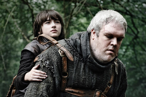 Bran Stark, Meera ve Hodor