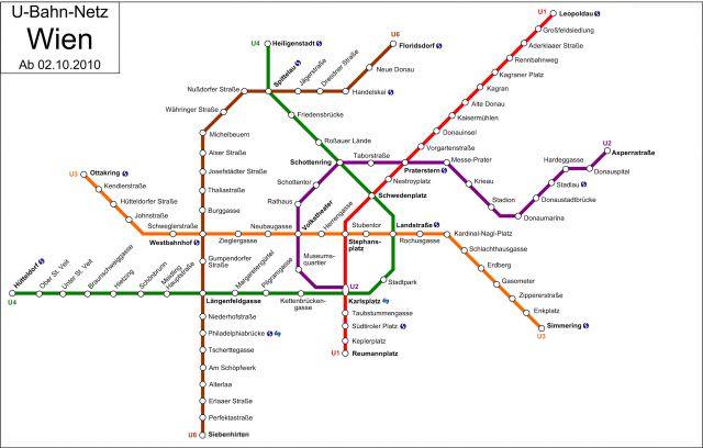 Viyana Metro Haritası / Vienna Railway Network Map