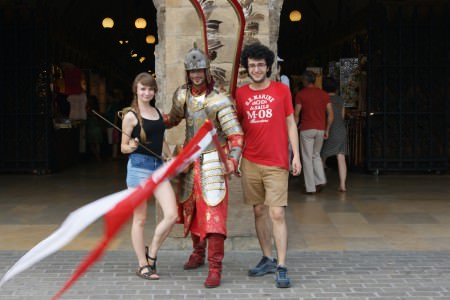 Arkadaşım Weronika, ben ve kanatlı bir Polonya şövalyesi